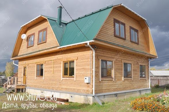 Строительство дома 9х12 из строганного бруса