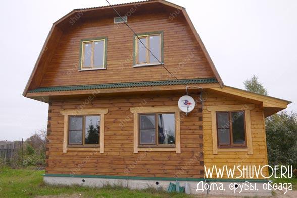 Брусовой дом в Мальково. Уже жилой.