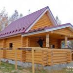 Рубленый дом 9 на 12, строительство под усадку