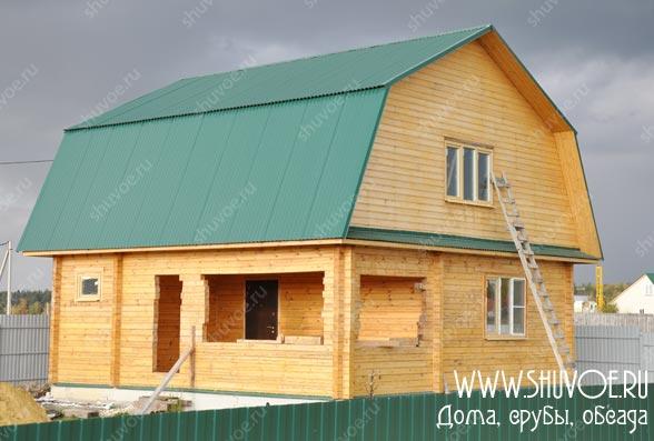 Брусовой дом 9х9 с террасой