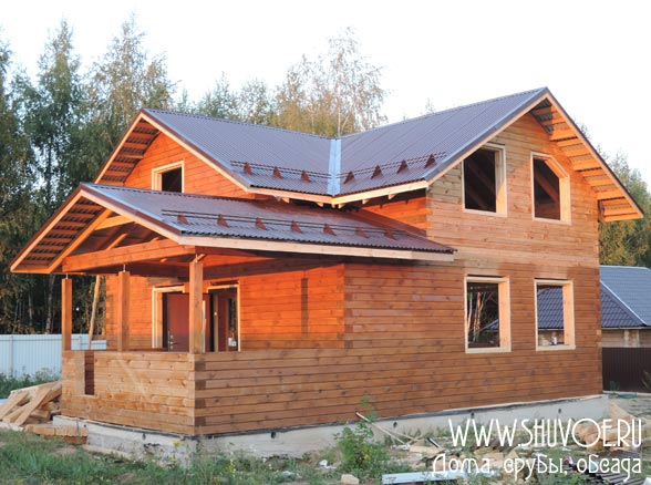 Строительство дома из бруса под усадку в Коломне