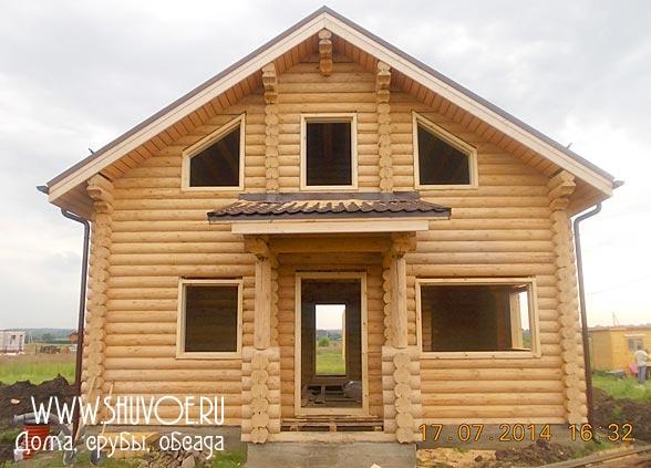Примеры установки обсады в деревянных домах.