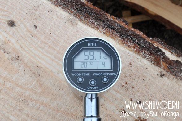 Влажность внутри древесины (естественная влажность свежераспиленного леса).