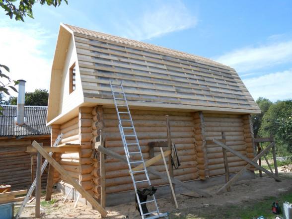 Отчет об установке крыши на сруб