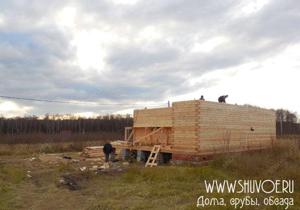 Строим брусовой дом - общий вид на участок