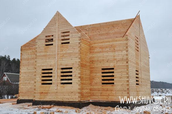 Строительство дома 10 на 11 метров из бруса, компания Шувое