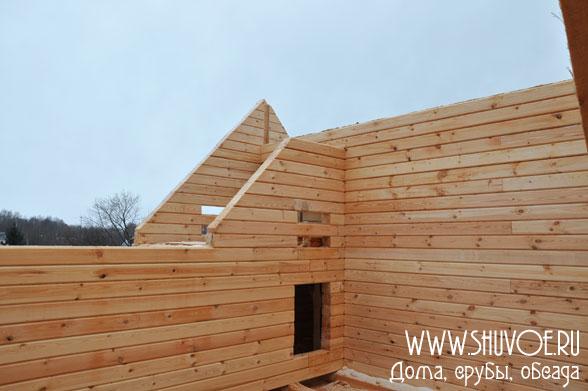Строительство дома 10 на 11 метров, компания Шувое