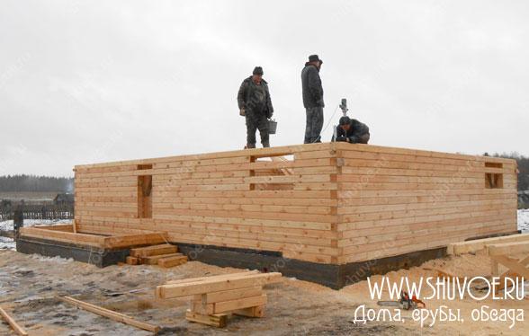 Брусовой дом 10 на 11 - строительство ведет компания Шувое
