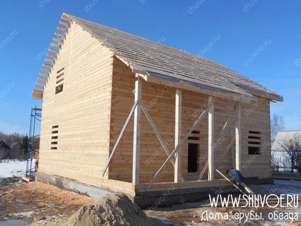 Дом 10х11 из профилированного бруса, компания Шувое
