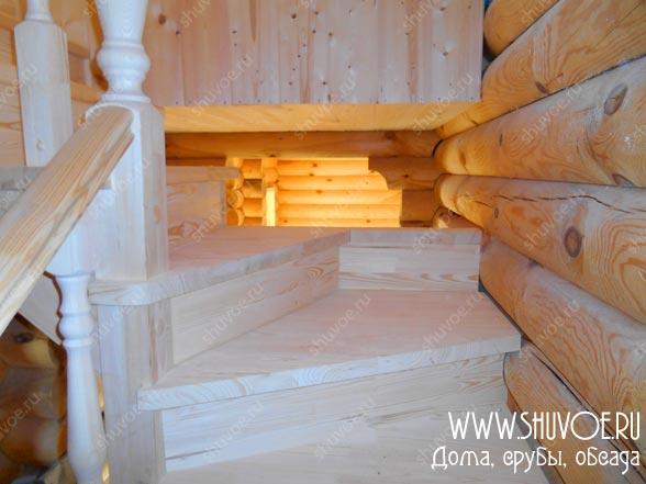 Готовая лестница - ступени и подъемы из сухого массива сосны