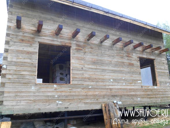 Окосячка - установка в брусовом доме, фотоотчет №1419