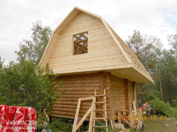 Крыша для сруба - жилая мансарда