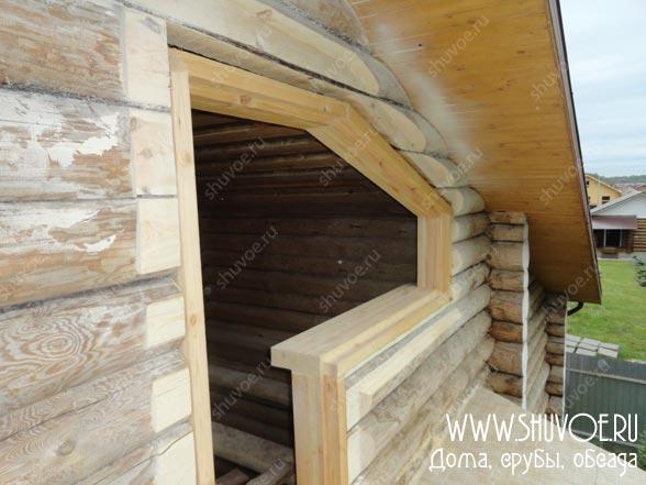Обсада балкона, фото с установки