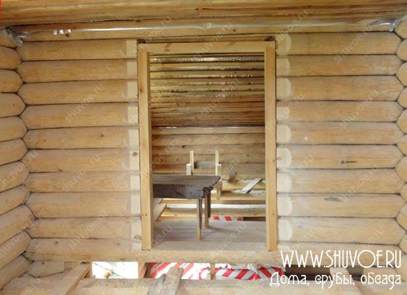 Обсада дверей, фото с установки