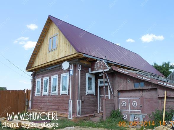 Замена крыши в деревянном доме. Реконструкция старых домов.