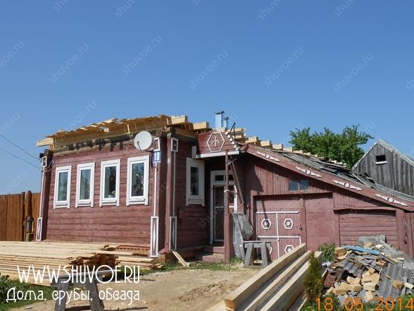 Замена крыши - реконструкция старого деревянного дома.
