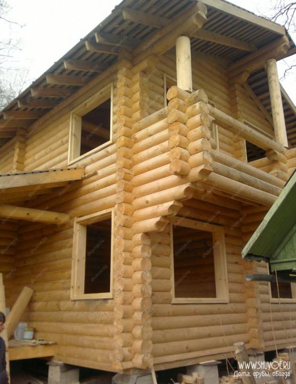 Готовая обсада окон в деревянном доме - компания Шувое