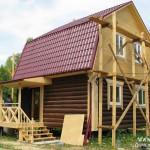 отделка деревянного дома в Калеево