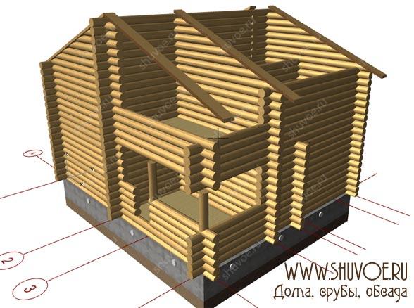 1 этап — создание модели дома,