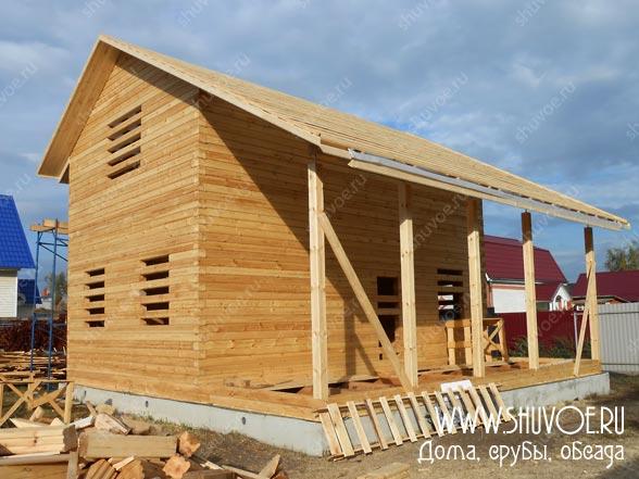Строительство брусового дома под усадку в Электрогорске