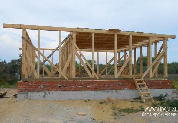 Строительство каркаса для деревянного дома