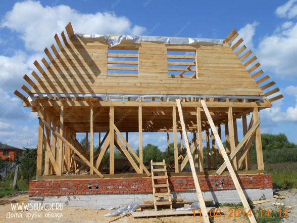 Строительство каркасного дома, внешняя обшивка