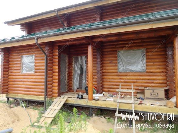 Установка окон в бревенчатом доме