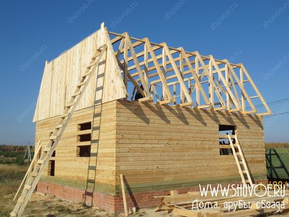 Строительство деревянного дома 8 8, фото