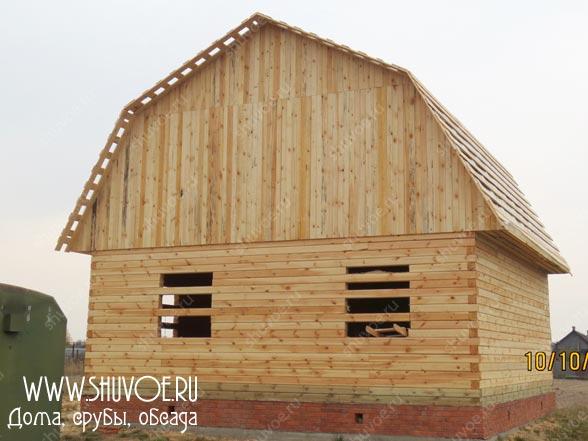 Строительство брусового дома 8 на 8