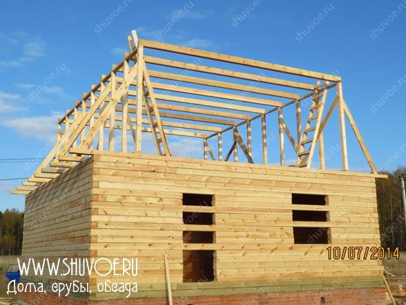 Строительство деревянного дома 8 8, фото 7