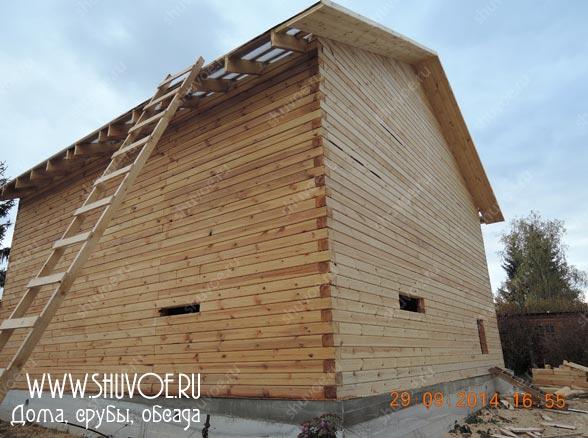 Проект дома из бруса 9х9