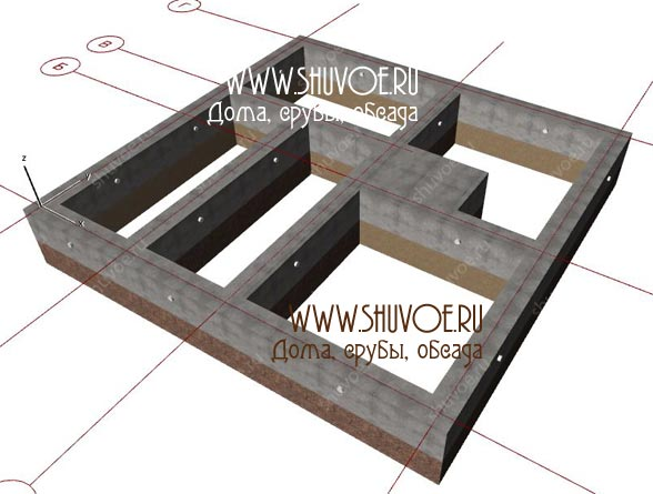 Фундамент под брусовой дом