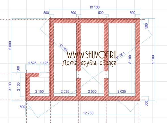 Фундамент для брусового дома 9х10