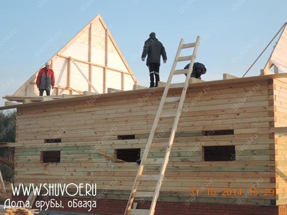 Классическая крыша для брусового дома
