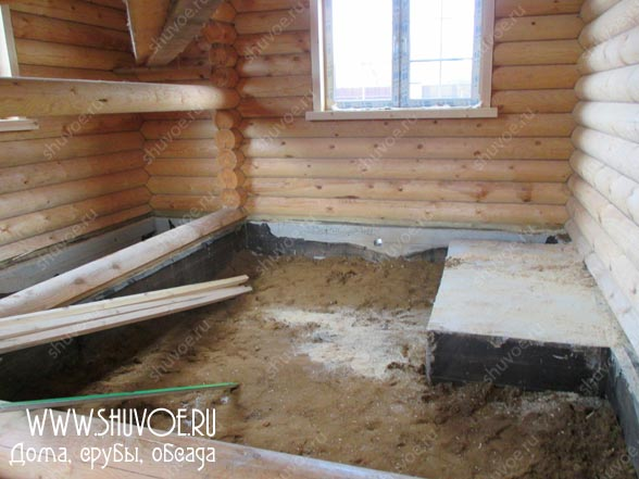 Фото 1 - отделка деревянного дома внутри