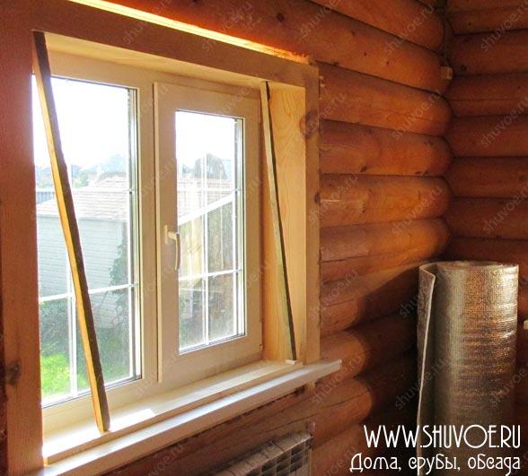 Откосы окон в деревянном доме, фото 1