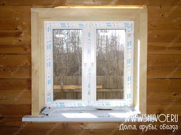 Установка окон в деревянных домах