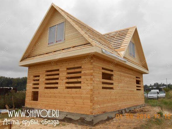 Деревянный дом 6х9, построенный из профилированного бруса