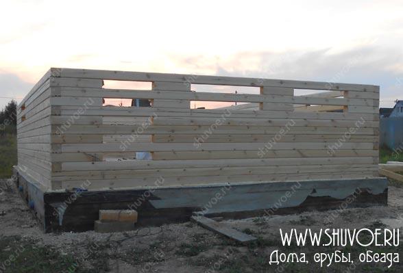 Дом 6*9 из профилированного бруса, фото строительства