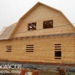 Готовой дом из строганного бруса в деревне Соколово