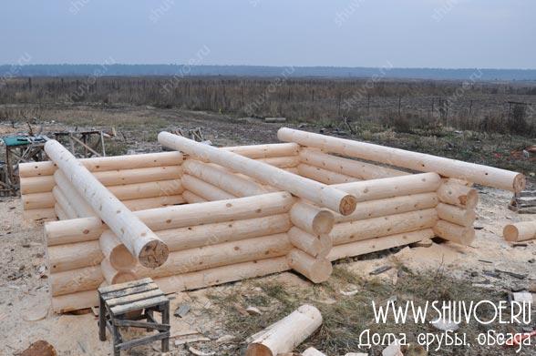 Сруб бани 5х6 под готовый фундамент