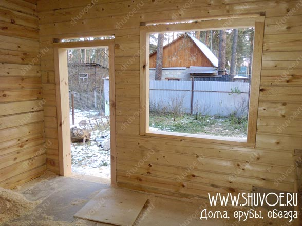 Окосячка двери и окна