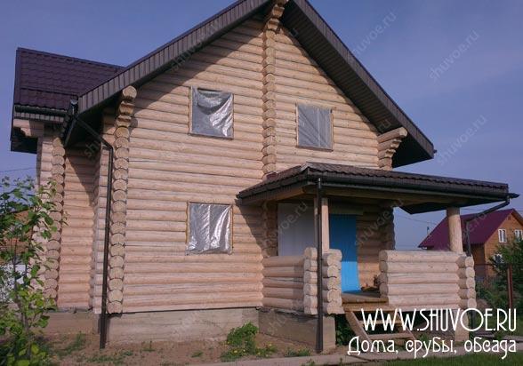 Строительство деревянного дома - установка окон