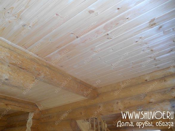 Потолок под имитацию бруса