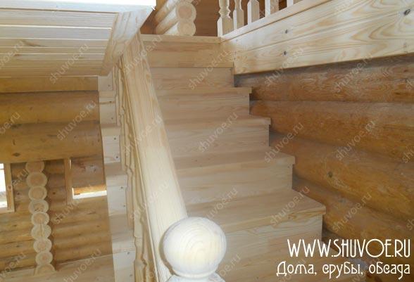 Отделка дома - лестница на 2й этаж