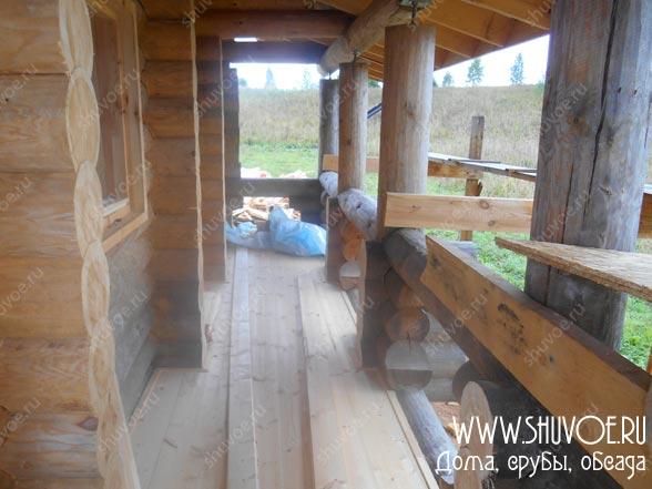 Отделка балкона в деревянном доме
