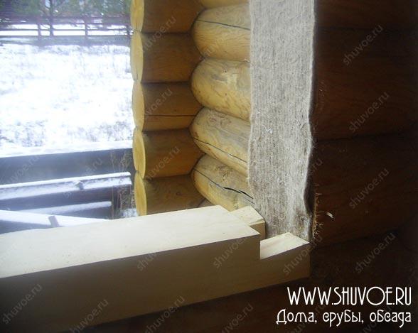 Установка окосячки в деревянном доме
