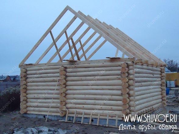 Строительство крыши на срубе 6х6