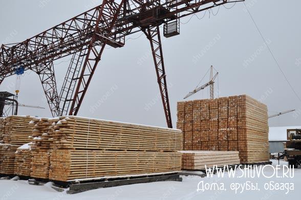 Заготовка бруса для строительства брусовых домов