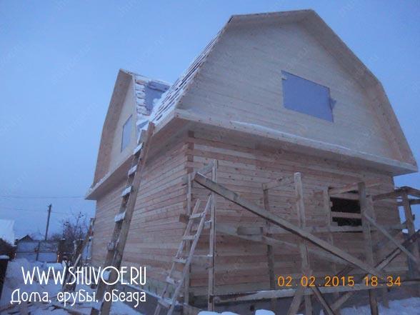 Строительство брусового дома 8х12 в д. Селиваниха.